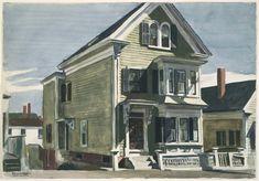 Edward Hopper - Anderson's House, 1926, watercolor over graphite pencil on paper, Museum of Fine Arts, Boston.