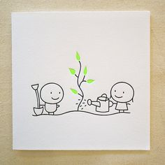 What are you planting at this time of year? Tree / Letterpress Card by tjstationerygifts on Etsy, $7.50