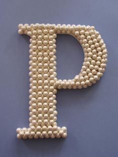 Pearl letters-easy to make with a letter and pearl stickers. so cute for my little