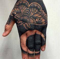 This heavy black tattoo by Mr. Tumaru shows no mercy!