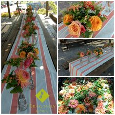 Natural and Uncontrived Floral Services Healdsburg, California 95448 Open Tuesday - Saturday or by Appointment Serving Wine Country - The Greater Bay Area - Northern California . June Events, Orange Party, Wine Country, Northern California, Coral, Table Decorations, Flowers, Royal Icing Flowers, Flower