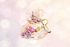 Not drinking tea out of fancy tea cups anymore? Save your favorites and turn the. - Not drinking tea out of fancy tea cups anymore? Save your favorites and turn them into pretty jewel - How To Clean Diamonds, How To Clean Gold, Container Organization, Storage Containers, Fancy Tea Cups, Jewerly Box Diy, Jewelry Insurance, Clean Gold Jewelry, Cheap Jewelry