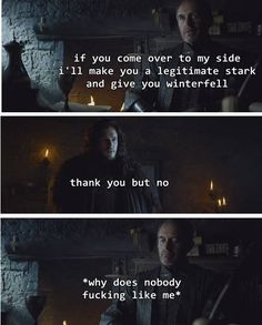 One of the few times Jon recognised an arsehole when he saw one< more like he was sticking to his vows as a member of the Night's Watch.