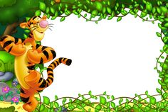 Cute Kids Transparent Frame with Tigger
