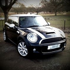 Mini Cooper - Black with White Roof & Stripes May 2015!!