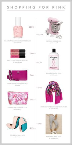 Shopping for Breast Cancer Awareness Month