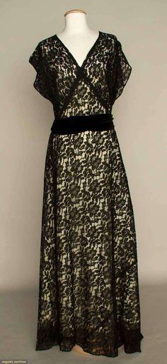 Lace Evening Dress, 1930's