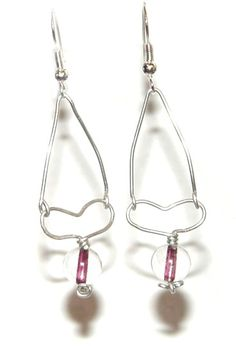 Wire Heart Earrings. Check out the full tutorial over at The Beading Emporium