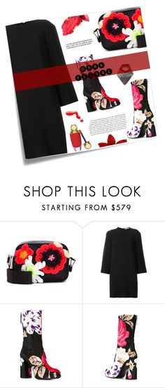 """In Bloom: Dark Florals"" by joliedy ❤ liked on Polyvore featuring Post-It, Christopher Kane, Givenchy, MSGM and Monies"