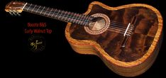 Highly figured Bocote B&S, Bocote & Curly Walnut top Concert Classical Guitar