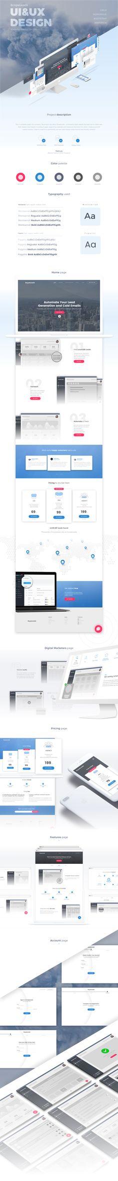 다음 @Behance 프로젝트 확인: \u201cScopeLeads - Website design (UI/UX)\u201d https://www.behance.net/gallery/51565077/ScopeLeads-Website-design-(UIUX)
