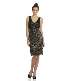 JS Collections - Art Deco Beaded Tank Dress (Dillard's) (Item 04173782)