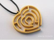 Heart maze pendant....pinned by ♥ wootandhammy.com, thoughtful jewelry.