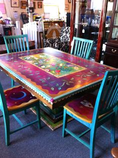 Bohemian Style Furniture For Sale Boho Chic Furniture And Accessories Gorgeous Hand Painted Table And Chairs Now I Cant Decide How To Do Boho Style Furniture