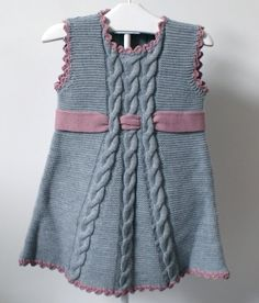Hope_always - Дневник Hope_always Kids Knitting Patterns, Baby Cardigan Knitting Pattern, Baby Hats Knitting, Summer Knitting, Knitting For Kids, Baby Knitting Patterns, Knit Baby Dress, Knitted Baby Clothes, Dress Clothes For Women