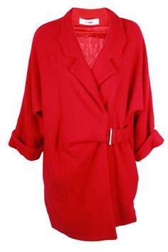 Pret A Porotobello Red Wrap Coat, Best Winter Coats, Winter Coats Women, Coats For Women, Faux Fur Collar Coat, Black Faux Fur Coat, Peplum Coat, Belted Coat, Crombie Coat, Boyfriend Coat