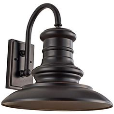 "Feiss Redding Station 15"" Bronze Outdoor Wall Lantern EXTERIOR LIGHT Lamps Plus $215 Feiss part OL9004RS2-LED"