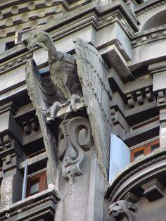 Otto Wulf Building - Buenos Aires Art Nouveau, Lion Sculpture, Building, Atlas, Statues, Sculptures, The Neighborhood, Walks, Antique Photos