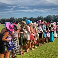Hat Contests at Wings Polo Classic. Huey's bartenders served drinks at the event, benefiting Wings Cancer Foundation, at Memphis Polo Club in Rossville, TN.