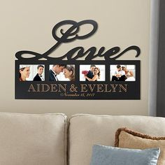 A Personal Creations Exclusive! Treasured wedding or family photos will find a striking home in this unique wall frame.