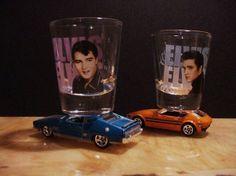 Hot Shots   Elvis Shot glasses on Hot Wheels Cars  US by LkcDesign, $28.50