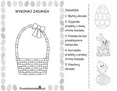 WIELKANOCNE KARTY PRACY – zestaw 1 – Przedszkolankowo Diy And Crafts, Easter, Teaching, Activities, Education, Preschool Ideas, Speech Language Therapy, Projects, Easter Activities