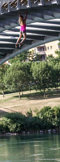 Urban climbing Lyon pont