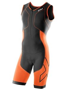 2XU Mens Perform Compression Trisuit - Black and Orange