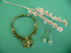 VINTAGE DOLL JEWELRY RHINESTONE NECKLACE & EARRINGS FOR MADAME ALEXANDER CISSY #DollClothingAccessories