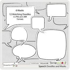 Speech Doodles and Masks