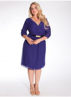 Cecilia Dress in Violet - by Igigi @SFMade @IGIGI #plussize #violetdress