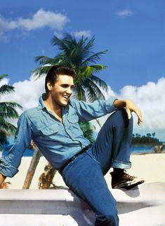 Destination Denim: Elvis, the unrivaled King of Denim. Who's your favourite denim icon?