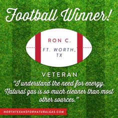 Facebook graphic for North Texans for Natural Gas, announcing one of the winners of their football giveaway. Want to find out how Harris Media can help digitize your campaign strategy? Give us a call today: 512.900.9439