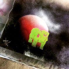 Elephant spray art