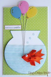 69 best fish cards images on pinterest in 2018 masculine cards cute goldfish birthday cardke the fish into a hair clip m4hsunfo