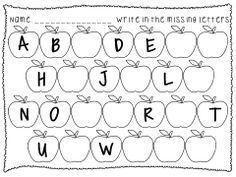 best learning sheets images  learning preschool activities   pages of abc sequence practice in both uppercase and lowercase letters  perfect for fall