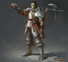 Half-orc Mercenary by Magnus Norén on ArtStation.