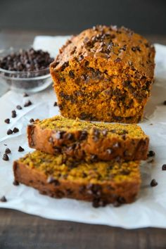 This Pumpkin Chocolate Chip Bread recipe makes two loaves and uses one full can of pumpkin. Save one loaf for you and take the other to a friend, or freeze the second loaf to enjoy later on. This bread is simple, classic, and delicious!