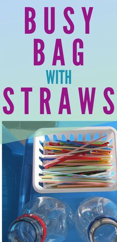 Busy Bags with Straws great for fine motor skills Fine Motor Activities For Kids, Toddler Activities, Busy Bags, Creative Thinking, Toddler Preschool, Straws, Fine Motor Skills, Posts, Education