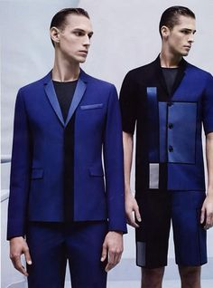 Dior Homme SS 2014 - love the blues.