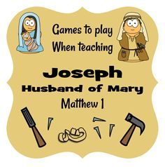 game ideas for Joseph & Mary #jesuswithoutlanguage