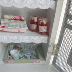 RESERVED-Miniature Shabby Chic Pantry by HamptonIvyDesigns on Etsy
