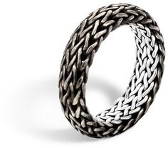 Classic Chain 7MM Band Ring in Silver