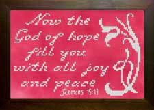 cross stitch Bible verses, new designs Icings, white floss on rich colored fabrics create an incredible, fresh look, stitch a meaningful gift. Romans 15, Icing Frosting, Hand Painted Fabric, Meaningful Gifts, Fabric Painting, Joyful, Bible Verses, Cross Stitch, Fabrics