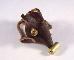 Miniature Steampunk Gas Mask Leather