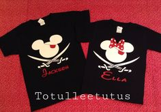 Disney Inspired Pirate Mickey OR Minnie Black by TotulleeTutus, $17.50