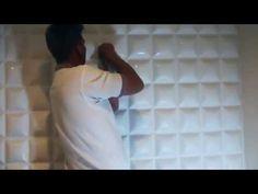 Peel& Stick 3D Wall Panel - Diamond Design. 12 Panels. 32sf