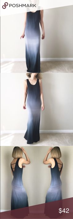 """Resort luxe maxi open back dress . High end boutique maxi dress midnight sky long dress maxi fit. Soft light airy stretchable Fabric. Size small Length 55"""" bust :16"""" w; 15"""" hips/bottom 17"""". Size M - length 55"""",bust 17"""",waist16,hips:18"""". Size L: length 56"""", bust 18"""",w17,hips19"""". stretchable . Flat lay measurements.Please allow to air and stretch out the item from packaging. It might  arrive packed / wrinkled. Hang it to let it stretch out. 👉🏼Follow me on  📸INSTAGRAM: @chic_bomb  and…"""