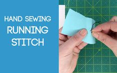 Running Stitch Daisy Pattern, Sewing Stitches, Running Stitch, Sewing Projects, Sewing Ideas, Fabric Scraps, Hand Sewing, Youtube, Patterns
