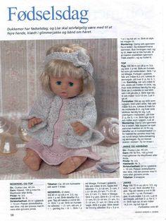 Album Archive - Dukketøj til Baby Born 1 - Ingelise Barbie Clothes Patterns, Doll Patterns, Girl Dolls, Barbie Dolls, Love Knitting Patterns, Baby Born Clothes, Knitting Dolls Clothes, Album, Diy Doll